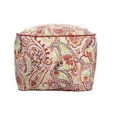 pattern furniture. Chili Paisley Square Outdoor Pouf With Handle Pattern Furniture