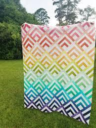 Modern Quilt Design Ideas Cabin Peaks Quilt Pattern Modern Quilt Patterns Ombre