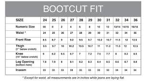 Aviator Size Chart The Best Travel Jeans In The World Bootcut
