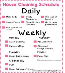 Simple Daily Cleaning Schedule C Ile Web E Hükmedin