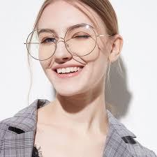 Wish Sunglasses Size Chart New Round Frames Glasses For Women Brand Designer Sunglasses Big Frame Clear Lens Glasses Retro Transparent Glasses