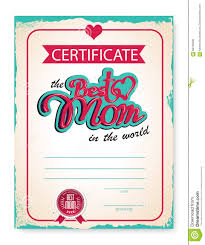The Template Of The Certificate Diploma Congratulations For Mothers