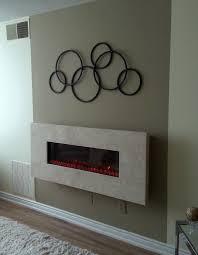 wall mount fireplace design ideas