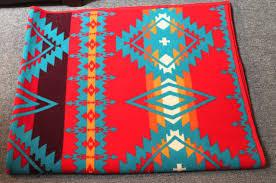 Native Design Blankets Pendleton Indian Design Camp Blanket Red And Teal