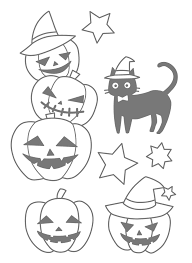 Kawaii Halloween Coloring Pages