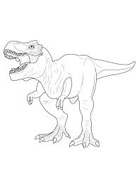 Kleurplaat Dino Vulkaan T Rex Ausmalbild Kostenlos Zum Ausdrucken
