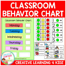Classroom Behavior Chart Digital Download