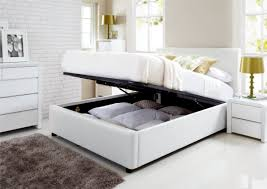 white full storage bed. Henley White Leather Ottoman Storage Bed Full