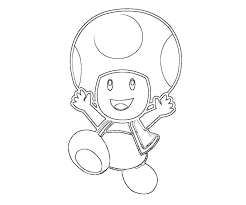 Mario Toad Coloring Pages Getcoloringpagescom