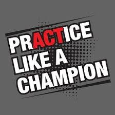 Image result for practice like a champion