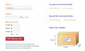 Shopping List Price Calculator Shipping Costs Calculator International Shipping Rates From Us To