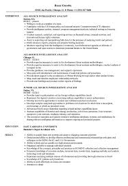 Intelligence Analyst Resume Examples intelligence analyst resume examples Guvesecuridco 5