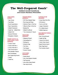 softball award certificate softball award certificates templates coaching forms