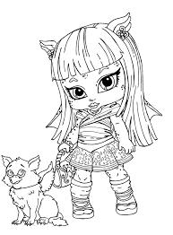 Small Picture Cleo de Nile Nia Monster High para colorear Colorear Cleo de
