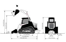 pt posi track loader series asv s service ceg dimensions general purpose bucket