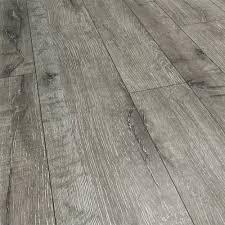 Grey Wood Laminate Flooring Landmark Series 143mm Random Width Gray Dawn Hickory With