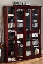adorable media storage cabinet with doors oak veneer double multimedia case with glass doors media cabinet
