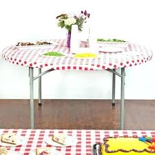 plastic elastic table covers stay put elastic tablecloth round creative converting stay put round red gingham plastic table cover clear plastic elastic