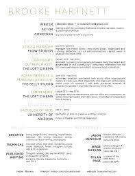 Modern Resume Tumblr Professional Resume Brooke Hartnett Brooke Hartnett