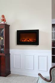 black wall mounted electric fireplace com