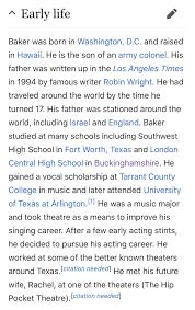 The Wikipedia Article For Charles Baker Is So Specifically Detailed