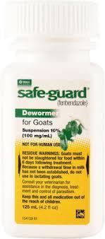 Safe Guard Goat Dewormer 10 Suspension 125 Ml