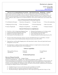 Cover Letter Controller Resume Example Financial Controller Resume