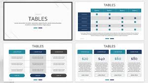 Free Table Chart Presentation Powerpoint Template Designhooks