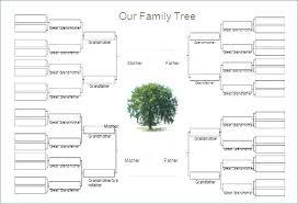 Family Tree Template Word Doc Info History Format Slipcc Co