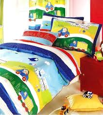 truck bedding sets custom twin or single size dark blue red yellow green cars trucks printed truck bedding sets