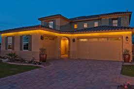 house led lighting. Inspired LED Outdoor Lighting: Weather Resistant Strip Lights On The Outside Of House Led Lighting