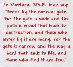 Image result for pathway narrow heaven