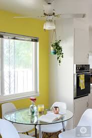 you will be surprised to see how a bright color can transform a boring dining room