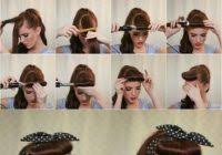 easy pin up hairstyles for long hair archives securelog doing the pin up hairstyles for short hair 1940 s 50 s pinup hair and makeup