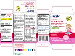 Jr Strength Acetaminophen Dosage Chart Pain And Fever Childrens Tablet Chewable Wal Mart Stores Inc