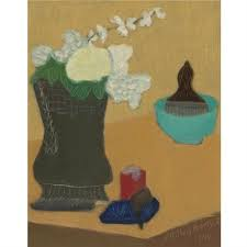 Flowers and pipe by Milton Avery on artnet