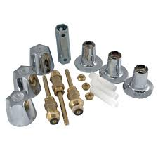 partsmasterpro 3 handle tub and shower rebuild kit for pfister verve faucets in chrome