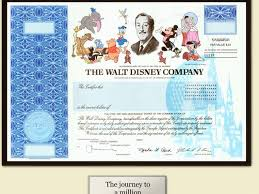 Stock Certificats Disney Stops Issuing Paper Stock Certificates