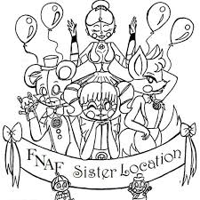 Fnaf Sister Location Coloring Page Coloring Fnaf Coloring Pages