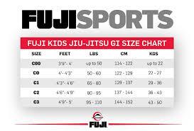 Fuji Gi Size Chart Fuji All Around Kids Bjj Gi White