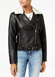 american rag juniors faux sherpa collar faux leather moto jacket created