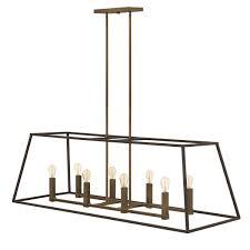 hinkley lighting fulton series 3338bz linear pendant chandelier searchlighting com residential and commercial lighting