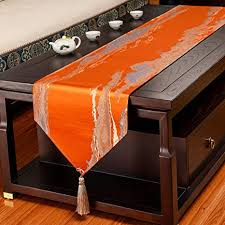 tassel table runner solid color stylish