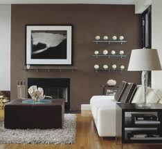 View in gallery Chocolate and vanilla living space with single large  photograph