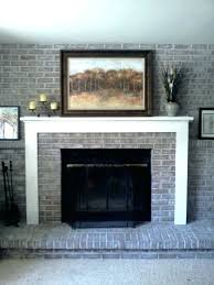 showy fireplace brick painting painted ideas brown white grey dark gray