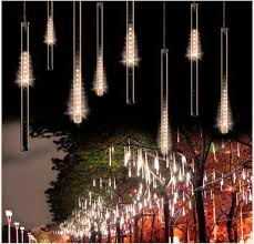 outdoor xmas lighting. 50cm 240led meteor shower rain tube led christmas light wedding party garden xmas string outdoor lighting