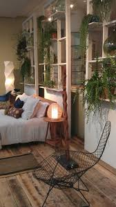 Awesome Bedroom Ideas   Shelving Unit Room Divider With Plants On Mochacasa