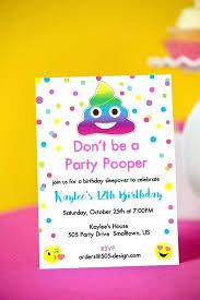 Emoji Birthday Invitation Template Elegant Party Instant