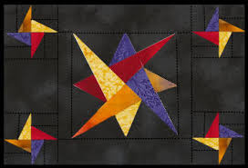 Laced Star Quilt Block Pattern - Star Placemat Pattern & spinning stars placemat Adamdwight.com