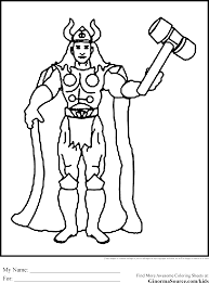 Small Picture Thor Coloring Page Pilular Coloring Pages Center